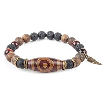 دستبند تبتی ساخته شده با سنگ طبیعی