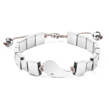 دستبند نقره زنانه حدید سیلور