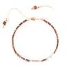 دستبند طلا زنانه سنگ حدید رزگلد
