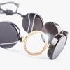 دستبند طلا سنگ عقیق رگه دار مشکی