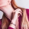 دستبند مروارید و طلا