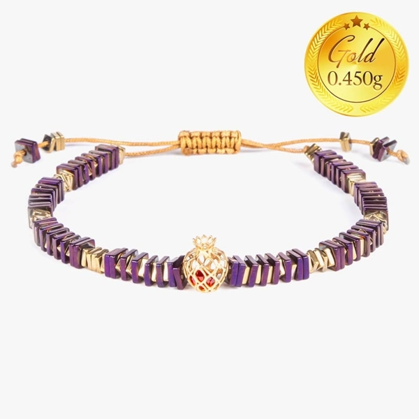 دستبند یلدا طرح انار | دارای 0.450 گرم طلا
