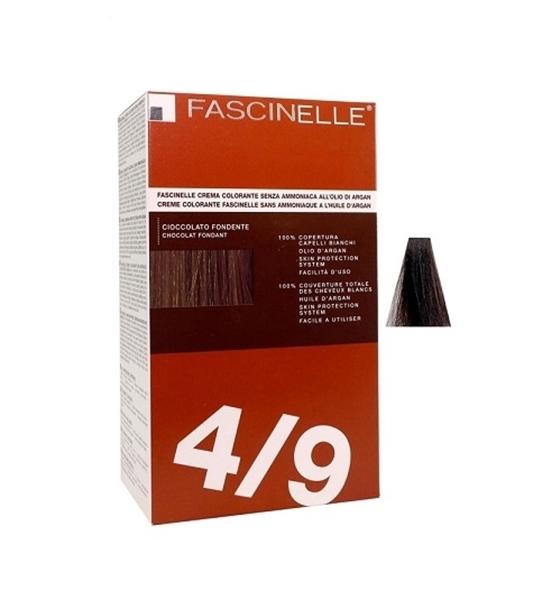 تصویر كيت رنگ مو فشینلی بدون آمونیاک سری Brown مدل شكلاتي تيره شماره 4.9