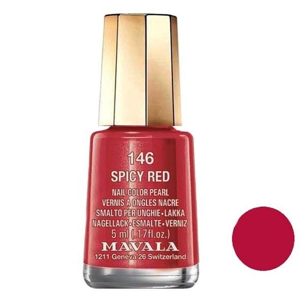 تصویر لاک ناخن ماوالا مدل Spicy red شماره 146