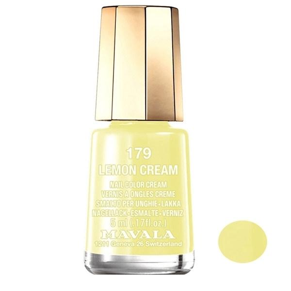 لاک ناخن ماوالا مدل Lemon cream شماره 179