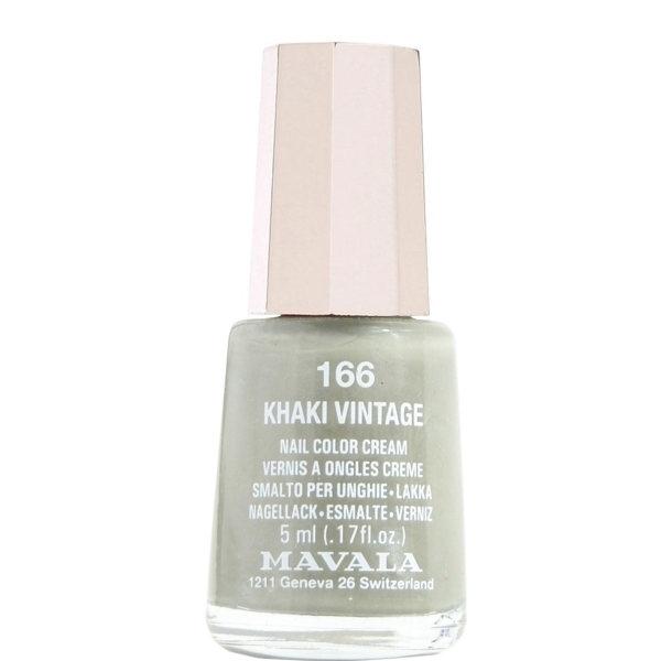 لاک ناخن ماوالا مدل Khaki vintage شماره 166
