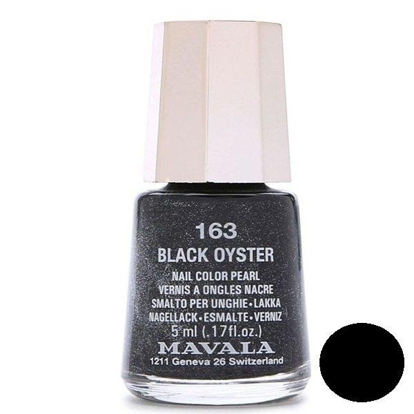 لاک ناخن ماوالا مدل Black oyster شماره 163