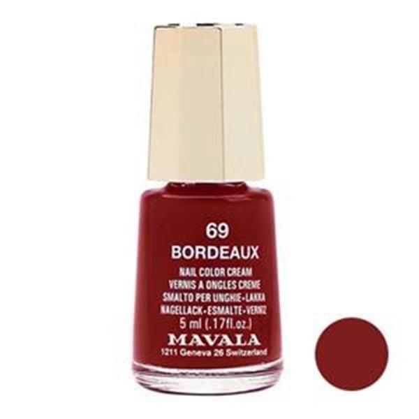 لاک ناخن ماوالا مدل BORDEAUX شماره 69