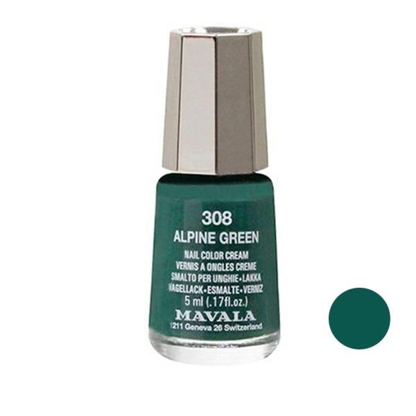 لاک ناخن ماوالا مدل Alpine green شماره 308